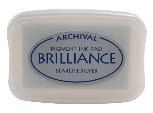 Brilliance Pigment Ink Pad-Starlite Silver -