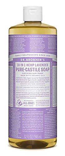 Kokos Shampoo Liquid (Dr. Bronner, Kastilien-Flüssigseife, Bio-Lavendel, 946 ml)