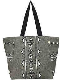 Premium Jute Shopping Tote Bag (Dark Gray) By Simple Jumo