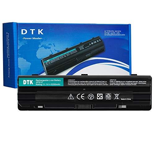 DTK Laptop Batterie Li-ion Akku für Dell XPS 15 L501x L502x 17 L701x L702x JWPHF J70W7 P09E P09E002 P11F R4CN5 R795X 08PGNG 8PGNG (6 Zellen 5200mAh 11.1V Schwarz)