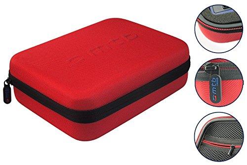hutztasche (XL) für GoPro Hero5 / Hero4 / Hero3+ / Hero3 - Rot - Koffer Case Bag ()