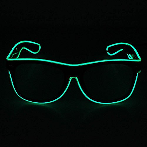 �n, evary LED-Licht Up Party Favor Unisex Kinder Erwachsene Brille mit Sprachsteuerung für Konzert DJ Disco Club Bar Halloween Weihnachten Festivals 3 Modi (El-draht-gläser)