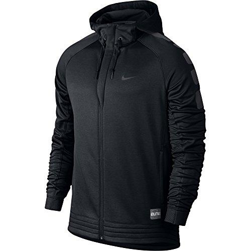 Nike Elite Stripe Hoody–Herren Sweatshirt Negro / Gris (Black/Black/Anthracite/Anthracite)