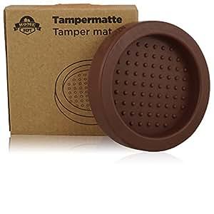 tampermatte tamperstation tamperablage zum espresso und kaffee zubereiten mit tamper und der. Black Bedroom Furniture Sets. Home Design Ideas