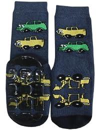 Weri Spezials ABS Enfants Pantoufle Chaussons Voitures Chaussettes Antiderapants Marine