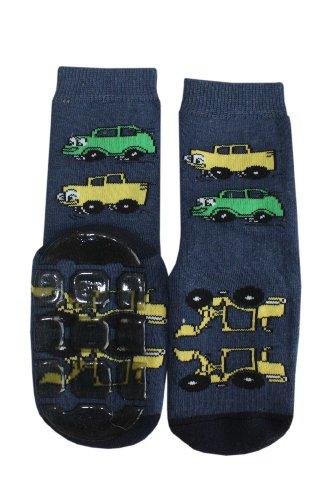 Weri Spezials Baby und Kinder Autos ABS Socken in Marine, Gr.27-30 (5-6 Jahre) -