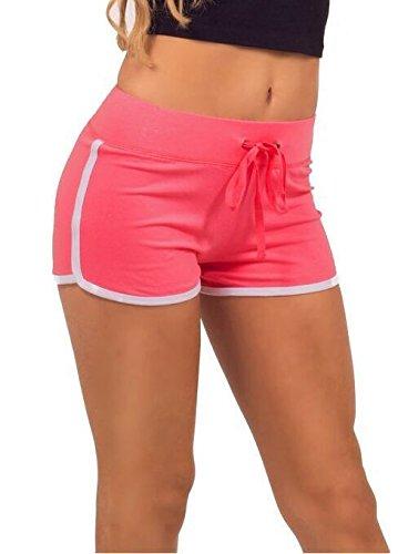 Hippolo pantaloni estivi pantaloni corti sport palestra allenamento yoga shorts nero Black Green M Pink