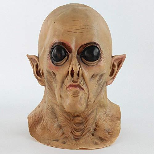 Littlefairy Maske,Großes Auge Alien Perücke Cosplay Latex Maske Halloween-Event verkleiden liefert Leistung Requisiten Horror