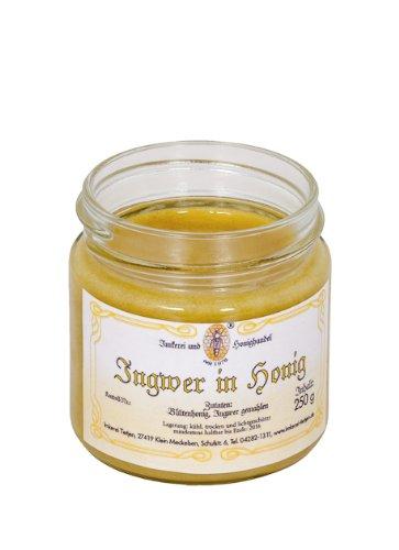 Ingwer in Honig 250g - Honig mit gemahlenem Ingwer, ohne Zusätze (von Imkerei Nordheide)