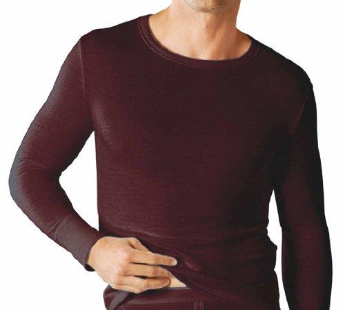 Classic Herren Basisschicht Thermo Langarm T-shirt Weste Winter Unterwäsche Bianco