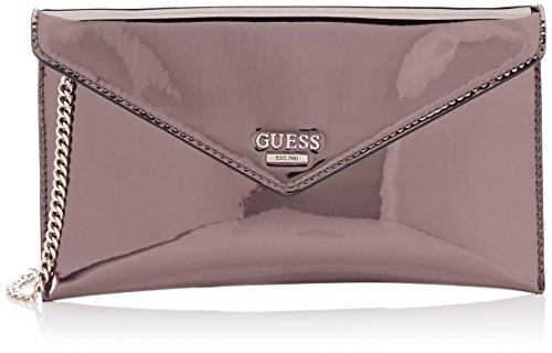 Guess Gefütterte Umhängetasche (Guess Damen Bags Hobo Umhängetasche, Grau (Pewter), 1x15x25.5 centimeters)