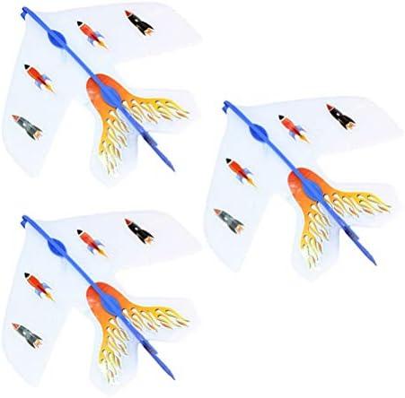 YeahiBaby Slingshot Slingshot Slingshot LED Hélicoptères Flying Toy Slingshot Flèches à Flare Copter  s en Plein Air Jouet (Autocollant Aléatoire) 3 pcs 11d27e