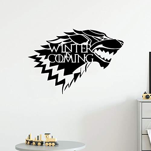Kreative winter kommt Wandaufkleber Pvc Wandaufkleber Wandkunst Tapeten Für Kinderzimmer Dekoration Nordischen Stil Wohnkultur-102x70 cm