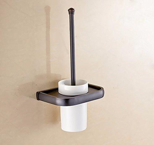THWS Retro Badezimmer Zubehör Schwarz Bronze Handtuchhalter Turm Hanger WC-Bürste Soap Box Regal Kit, WC-Bürste (Badezimmer-zubehör-kit-bronze)
