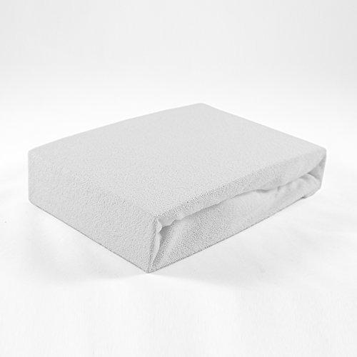 Frottee Spannbettlaken 60 x 120 cm weiß Laken Bettlaken Babybett Spannbetttuch Betttuch