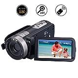 Camcorder Videokamera Full HD 1080p 24.0MP Digitalkamera 3,0 Zoll 270 Grad drehbarer Bildschirm Vlogging Kamera Pause Funktion