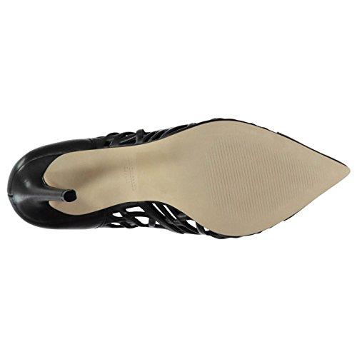 Steve Madden Damen Priness Leder Pumps Stiletto High Heels Absatz Schuhe Schwarz