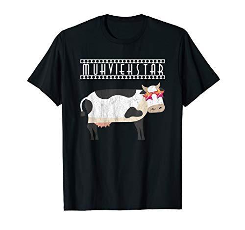 Frauen Kostüm Bauern - Muhviehstar T-Shirt Damen Für Landwirt Im Einsatz Kuh Kostüm T-Shirt