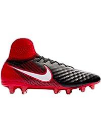 Nike Magista Orden II pavimento duro adulto 41?scarpe da calcio?–?Scarpe da calcio, pavimento duro, Adulto, Uomo, Nero, Rosso, stampato, in pelle,…