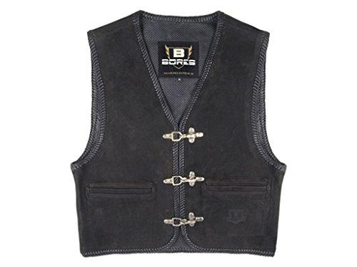 Bores Sunride 2 Nubuk Lederweste, Innenliegende Taschen, Schwarz, Größe XL