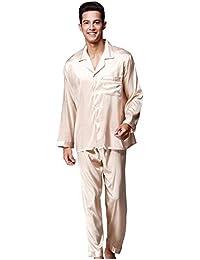 Marcus R Caveggf Logeliy de los Hombres Conjuntos de Pijamas Mangas largas Pantalones Traje de Dos