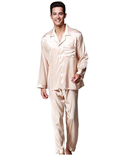 Mode Hommes Pyjamas d'été Vêtements de nuit courts Doux Vêtements de nuit confortables