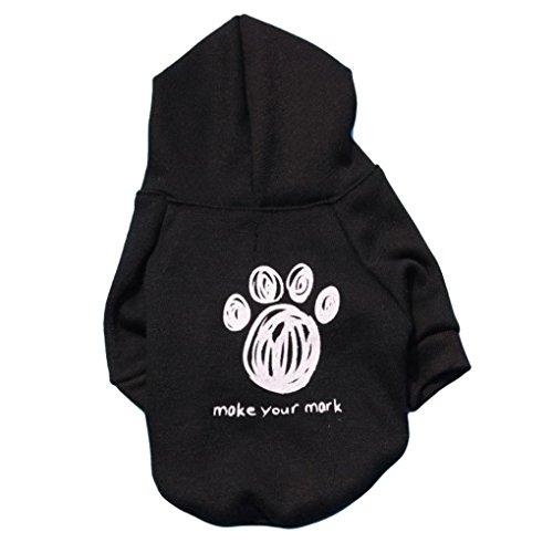 Saingace Hundbekleidung Hunde Kleider Haustier Kostüm Bekleidung Hot Dogs Mantel Overall Haustier-Welpen-weiche warme Flanell Fußabdruck Kleidung (Hot Kostüm Muster Dog)
