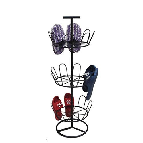 XJIA Support à chaussures suspendu, balcon extérieur offre spéciale pantoufles simples type de sol ponceuse machine assemblage créatif assemblage en fer forgé support de séchage 35 * 35 * 96 cm