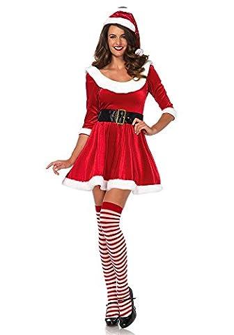 Leg Avenue 86615Taille 12/14Medium/Large Rouge/blanc Santa Bonbon pour femme–Lot de