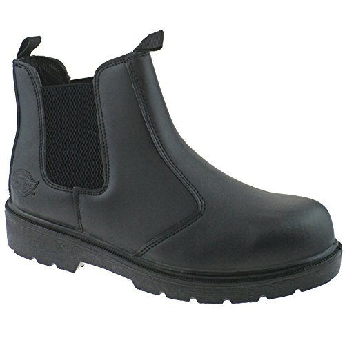 Dickies FA23345 Contract D'ler Boot Black - UK 8 (Black Engineer-stiefel)