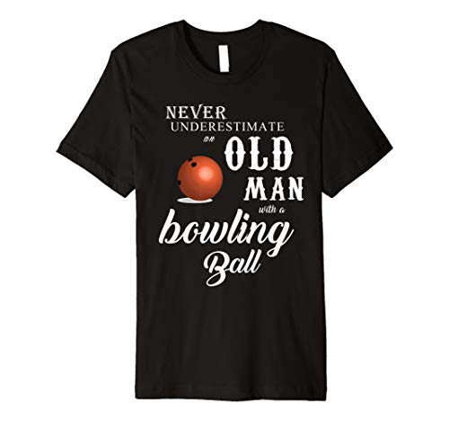 an old man with a bowling ball ()