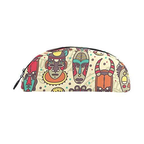 Federmäppchen, Vintage, Tribal-Maske, bunt, Ethno-Stil, Stiftebeutel mit Reißverschluss, Make-up für Kinder Mädchen ()