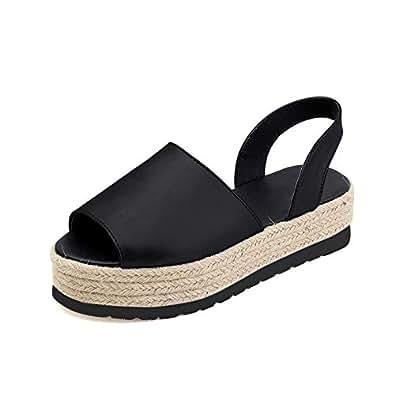 Sandalen Flache Knöchelriemen Frauen Plattform Wildleder Damen Lässige Sommer Strand Schuhe Rosa Schwarz Khaki EU35 EU42