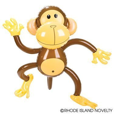 SIX Adorable 27'' MONKEY INFLATES/awesome party Decor/Favor/Jungle/Animal/Safari by RIN