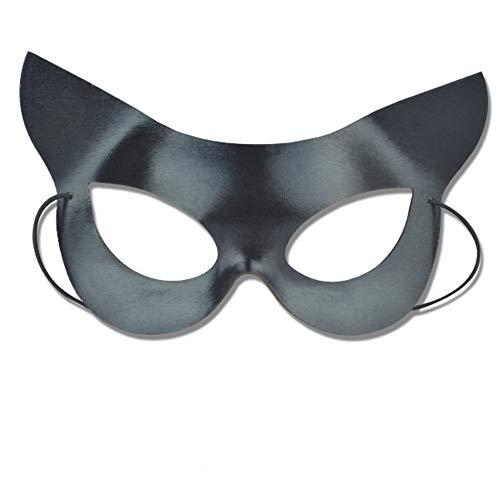 Katze Maske Katzenmaske Maskerade Maske Schwarz Venetian Maske Cat Maske für Party Cosplay Kostüm Zubehör - Schwarze Katze Maskerade Maske