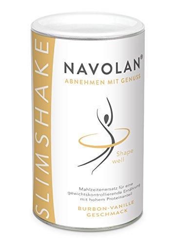 NAVOLAN Bourbon Vanille SLIM SHAKE: Diät Shake zum Abnehmen, 14 Ersatzmahlzeiten, lecker cremiger Vanillegeschmack einfache Zubereitung