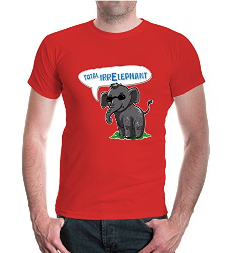 buXsbaum® T-Shirt Total IrrElephant Red-z-direct