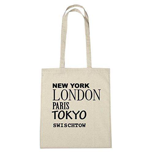 JOllify swisc htow di cotone felpato b3837 schwarz: New York, London, Paris, Tokyo natur: New York, London, Paris, Tokyo