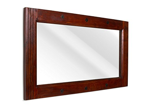 Braun Kolonialstil (massivum Spiegel Texas 110x60x3 cm Palisander braun lackiert)