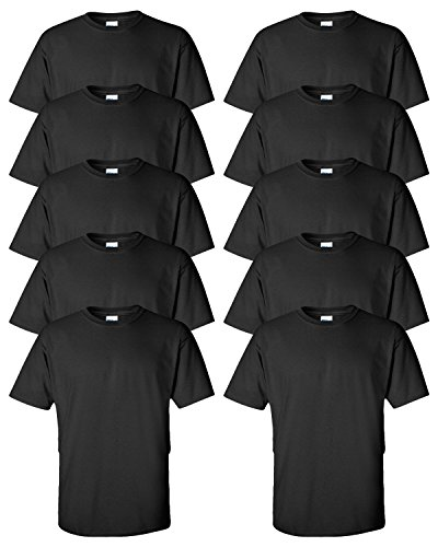 Gildan–Camiseta de Manga Corta (Pack de 10) - Negro -