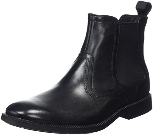 Rockport Dressports Modern Chelsea, Stivaletti Uomo, Nero (Nero (Black Leather)), 42 EU