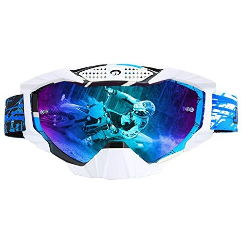 Coniea Snowboardbrille für Brillenträger TPU Skibrille für Brillenträger Herren Schutz Brille Mehrfarbig Blau