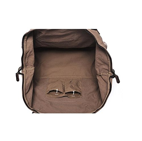 LF&F 35-45L GroßE KapazitäT Retro Innovation Leinwand / Leder Fern-Reisetasche Handtasche Schulter Messenger Bag Mehrzweck-Sport Shopping Business GepäCk Tasche A