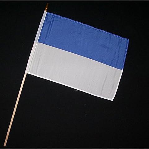 Stock-Flagge 30 x 45 : Schützenfest blau-weiß