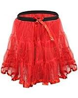 "Girls Red 18"" Long Petticoat Tutu Age 4-12 Years"