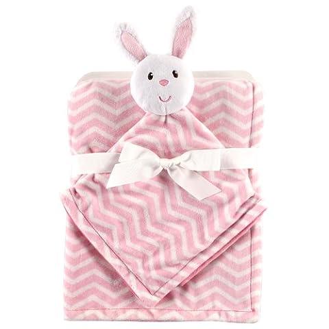 Hudson Baby Plush Security Blanket Set, Bunny