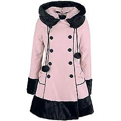 Hell Bunny Sarah Jane Coat Abrigo Mujer Rosa L