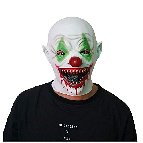 YaPin Scary Clown Maske Scary Spukhaus Kopfbedeckung Teufel Adult Male Zombie Tricky Gesicht Halloween Vampire