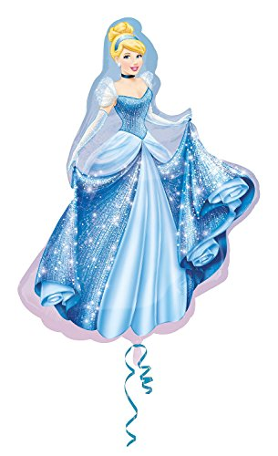 Amscan Anagram 2481401 - Party und Dekoration - Folienballon Super Shape - Disney Princess - Cinderella, circa 71 x 84 cm (Princess Dekorationen Disney Geburtstag)