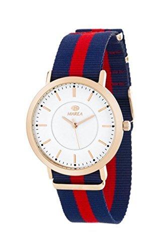 Marea Damen Analog Quarz Uhr mit Stoff Armband B21164/3
